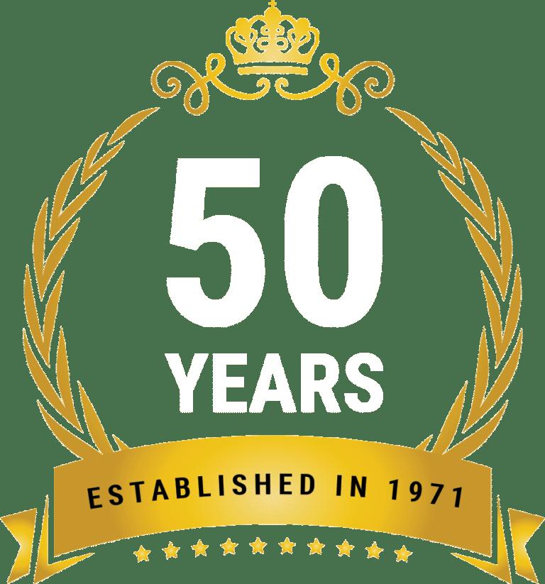 50 years crest